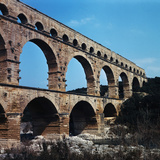 Pont Du Gard Aqueduct in France Photographic Print by Philip Gendreau