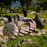 Fallen Greek Columns Photographic Print by Philip Gendreau