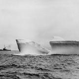 Ship Sailing past an Iceberg Photographic Print