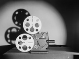 Early Motion Picture Projector Photographic Print by Philip Gendreau