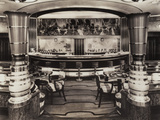 Cocktail Bar on Queen Mary Photographic Print