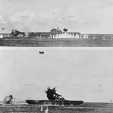 Japanese Suicide Bomber Diving into US Navy Warship Photographic Print