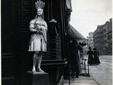Wooden Native American Store Statue Photographic Print