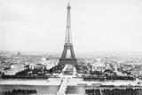 Panoramic View of Exhibition Grounds in Paris with Eiffel Tower Photographic Print