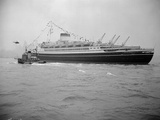 Ocean Liner Andrea Doria Arriving in NY after Maiden Voyage Photographic Print