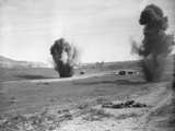 Allied Troops Attacked by German Bombers Photographic Print