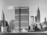 United Nations Building under Construction Photographic Print