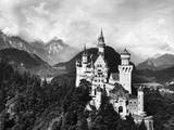 Aerial View of Castle in Mountains Photographic Print