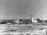 Cheyenne Sweathouse Photographic Print by Marion Post Wolcott