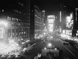 People Enjoying the Nightlife in times Square Photographic Print