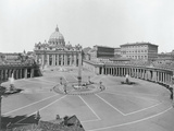 Aerial View of St Peters Cathedral in Vatican City Photographic Print