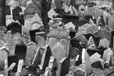 Headstones in the Prague Old Jewish Cemetery Photographic Print