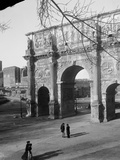 Road to Forum Passing Arch of Constantine Photographic Print