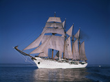 Sailing Ship Esmeralda in Puget Sound Photographic Print by Ray Krantz