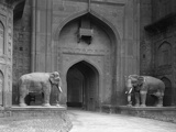 Elephant Statues at Red Fort Photographic Print by Philip Gendreau
