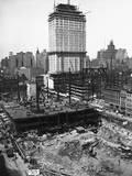 Radio City Music Hall under Construction Photographic Print