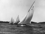 Yachts Participate in a Six Meter Race Photographic Print by Edwin Levick