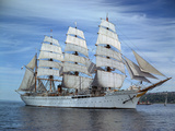 Sailing Ship Nippon Maru in Puget Sound Photographic Print by Ray Krantz