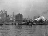 Tugboats in the New York Harbor Photographic Print by Edwin Levick