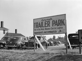 Trailer Park Sign Photographic Print by Marion Post Wolcott