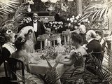 View of Gay 90S Wedding Reception Photographic Print