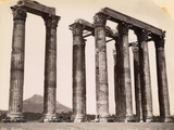 Low Angle Ruins of Corinthian Columns Photographic Print