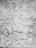 Carving Depicting Assyrians Photographic Print