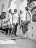 Women Gather Poolside Photographic Print by Philip Gendreau