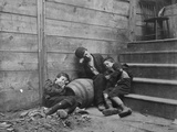 Poor and Homeless Sleeping on Streets Photographic Print by Jacob August Riis