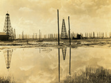 Spindle Top Oil Fields Photographic Print
