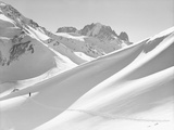Lone Skier Shadowed by Mont Blanc Photographic Print by Philip Gendreau