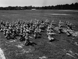 Army Calisthenics at Yoder Field Photographic Print by Edwin Levick