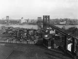 Bird's Eye View of the Brooklyn Bridge Photographic Print