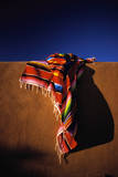 Southwest Blanket on Adobe Wall Photographic Print by Jim Zuckerman