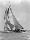 The Schooner Half Moon at Sail Photographic Print by Edwin Levick