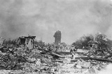 Japanese Park after Earthquake; Tower Photographic Print
