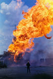 Natural Gas Well Burning after Explosion Photographic Print