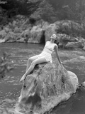 Woman in Bathing Costume Photographic Print by Philip Gendreau