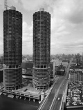 Facade of Marina City Towers Photographic Print by Philip Gendreau