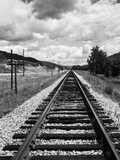 Railroad Tracks Stretching into the Distance Photographic Print by Philip Gendreau