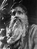 Detail of Moses by Michelangelo Buonarroti Photographic Print