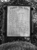 Sign at Toll Bridge Photographic Print by Jack Delano