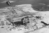 Aerial of Home Destroyed by Hurricane Photographic Print
