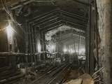 Workmen in Tunnel Photographic Print