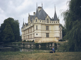 View of Chateau D'azay Le Rideau Photographic Print by Rene Henry