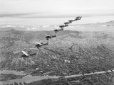 US Observation Planes Flying in Battle Formation Photographic Print