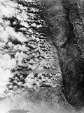 Aerial View of World War I Gas Attack Photographic Print
