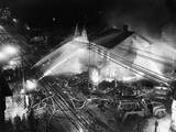 Pittsburgh Firemen in Action Photographic Print