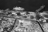 Aerial View of Military Base Photographic Print