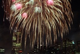 Fireworks Display Photographic Print by Rebecca Barger
